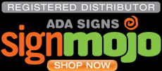Link to online catalog for ADA compliant signs