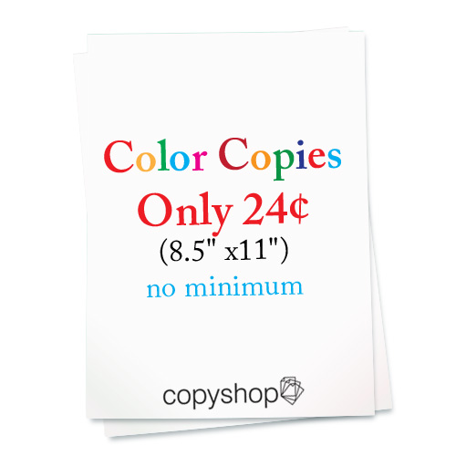 Color copies only 29cents at the Copyshop in South Amboy, NJ